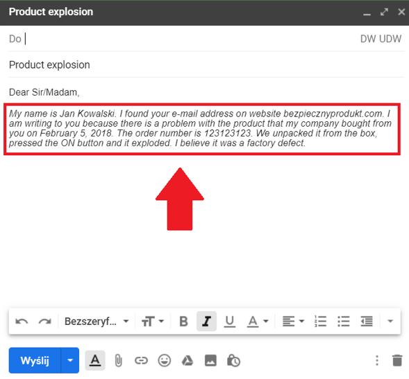 e-mail priorytet informacji