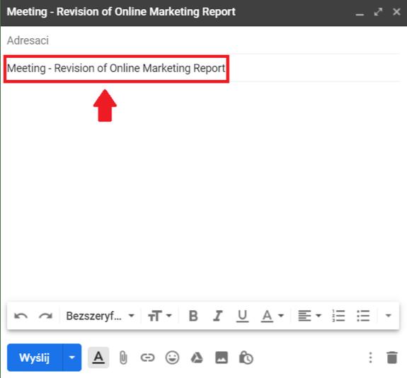 e-mail temat